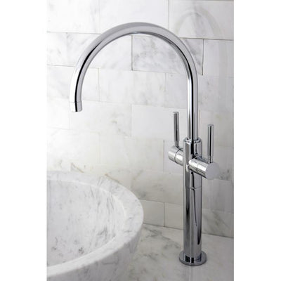 Kingston Brass Concord Chrome Twin Lever Handles Vessel Sink Faucet KS8091DL