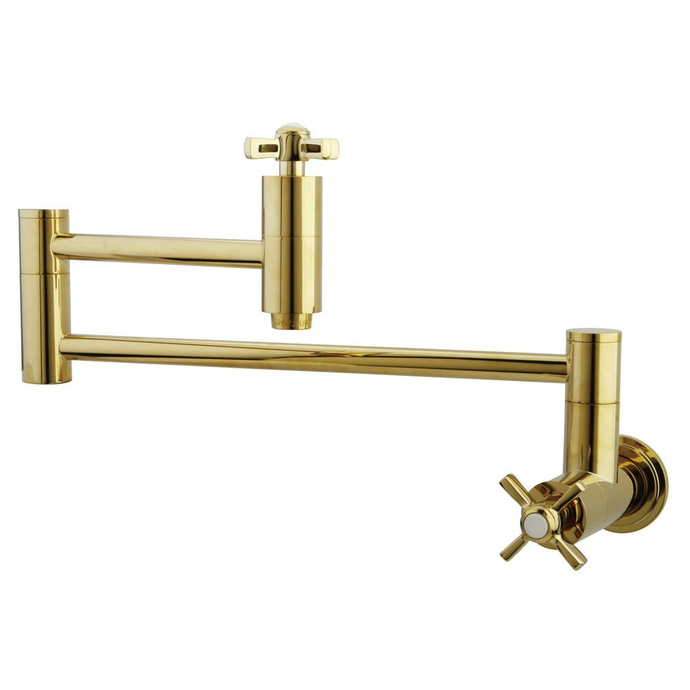 Kingston Brass KS8102ZX Wall Mount Pot Filler Faucet Polished Brass