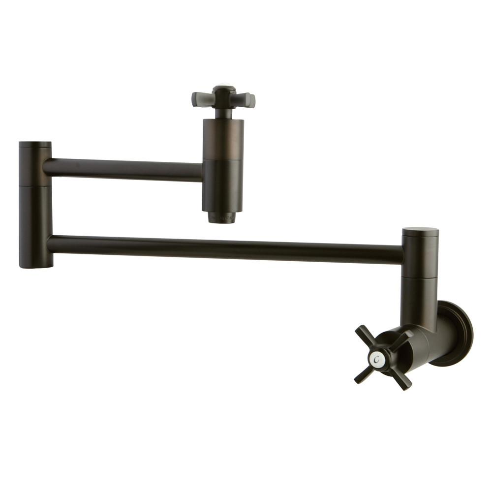Kingston Brass KS8105ZX Wall Mount Pot Filler Faucet Oil Rubbed Bronze