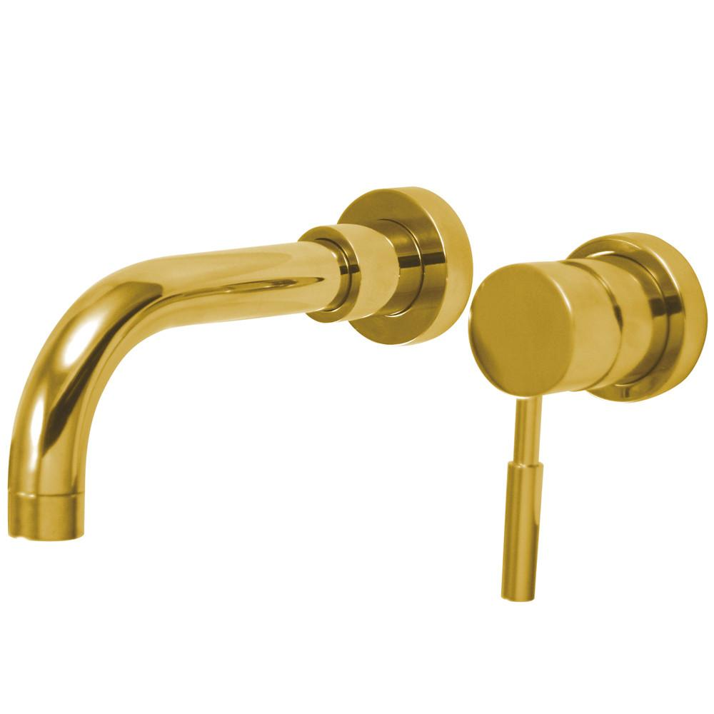 Kingston Concord Polished Brass 1 Hdl Wall Mount Vessel Sink Faucet