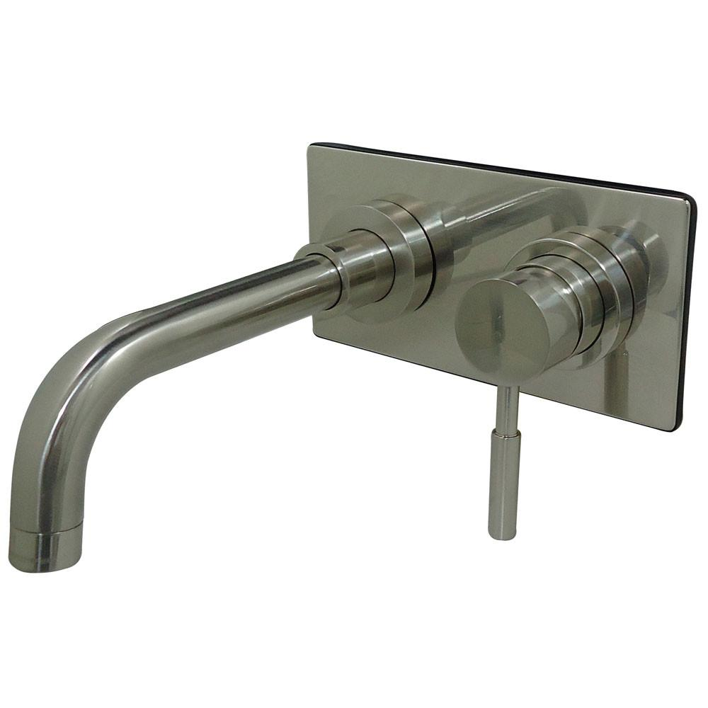 Concord Satin Nickel Single Handle Wall Mount Vessel Sink Faucet