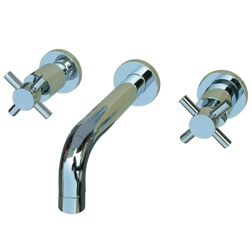 Kingston Brass Concord Chrome Two Handle Wall-Mount Vessel Sink Faucet KS8121DX