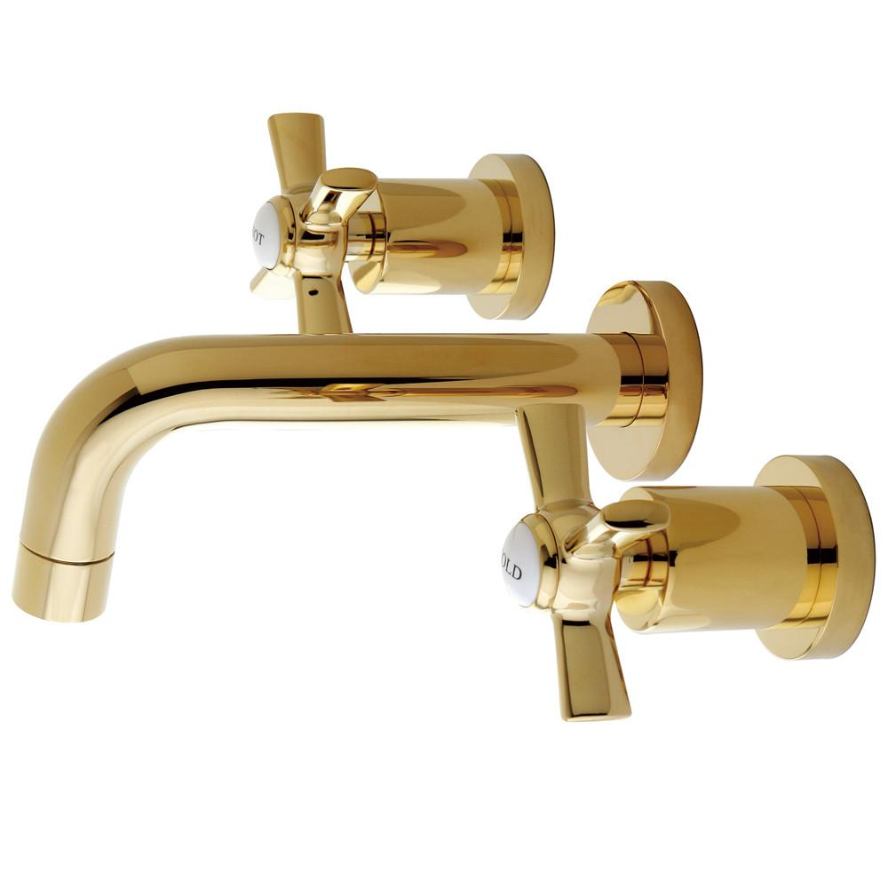 Kingston Brass KS8122ZX Vessel Sink Faucet Polished Brass