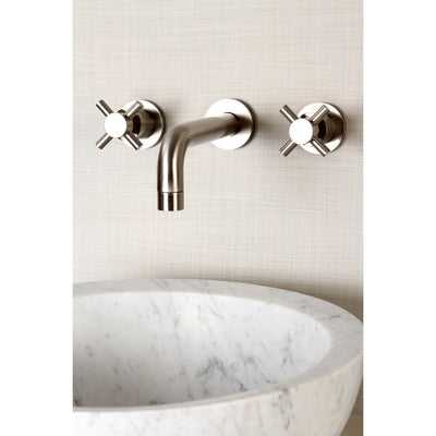 Kingston Concord Satin Nickel Two Handle Wall Mount Vessel Sink