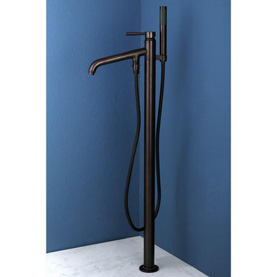 Concord Oil Rubbed Bronze Pillar Roman tub filler faucet w/Hand Shower KS8135DL
