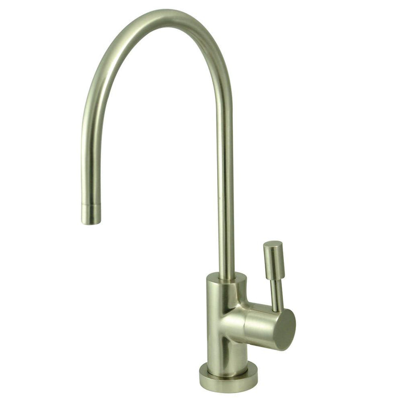 Single Lever Faucet Water Filter : Kingston brass concord satin nickel single handle water