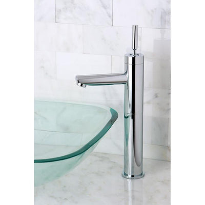 Chrome Single Handle Vessel Sink Faucet w/out Pop-up & Plate KS8211DL