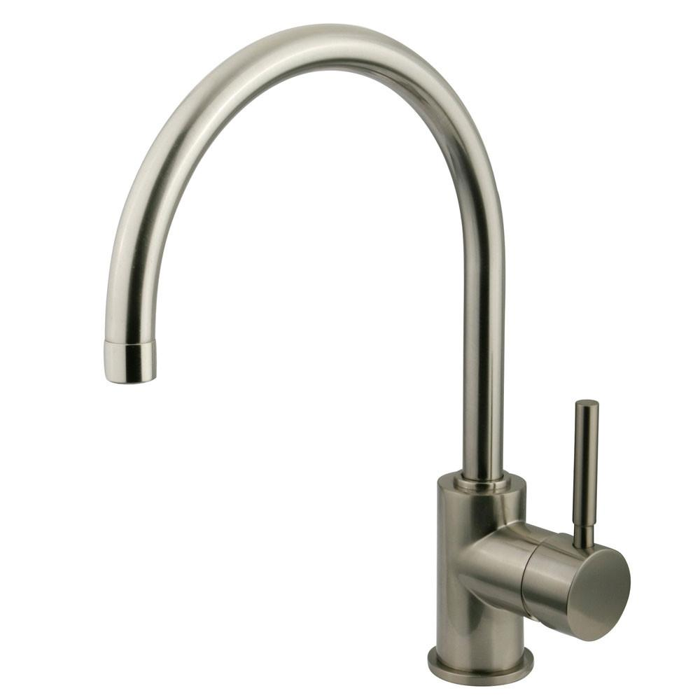 Kingston Brass Concord Satin Nickel Single Handle Vessel Sink Faucet KS8238DL