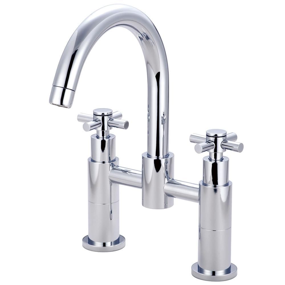 Concord Chrome Two Handle Deck-mount Roman tub filler faucet KS8261EX
