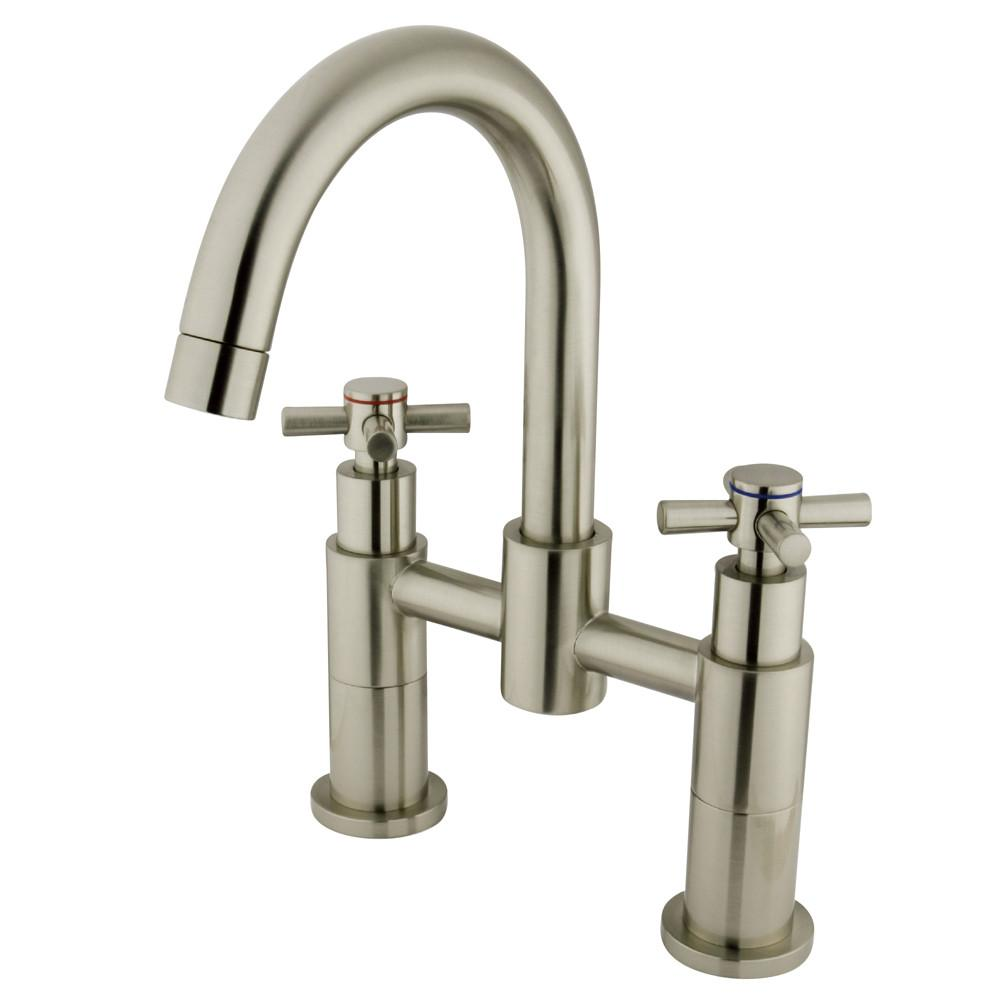Concord Satin Nickel 2 Handle Deck-mount Roman tub filler faucet KS8268EX