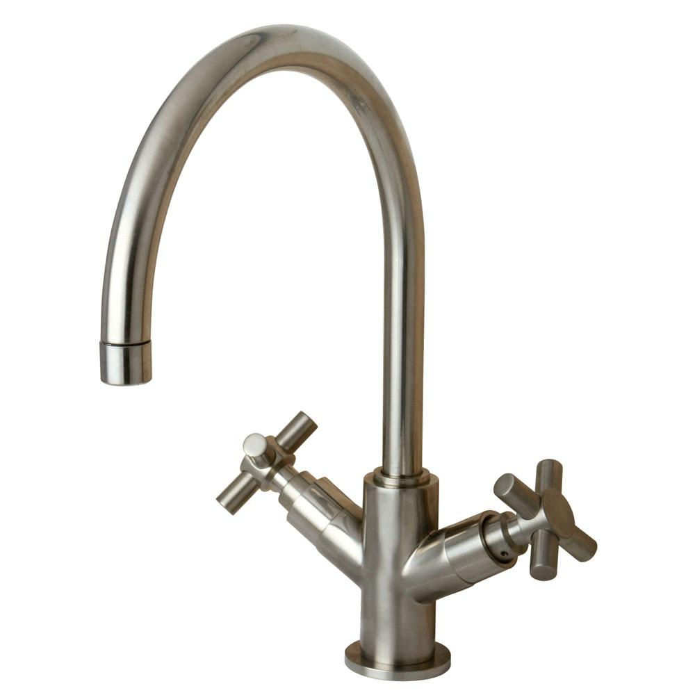 Kingston Brass Concord Satin Nickel Two Handle Vessel Sink Faucet