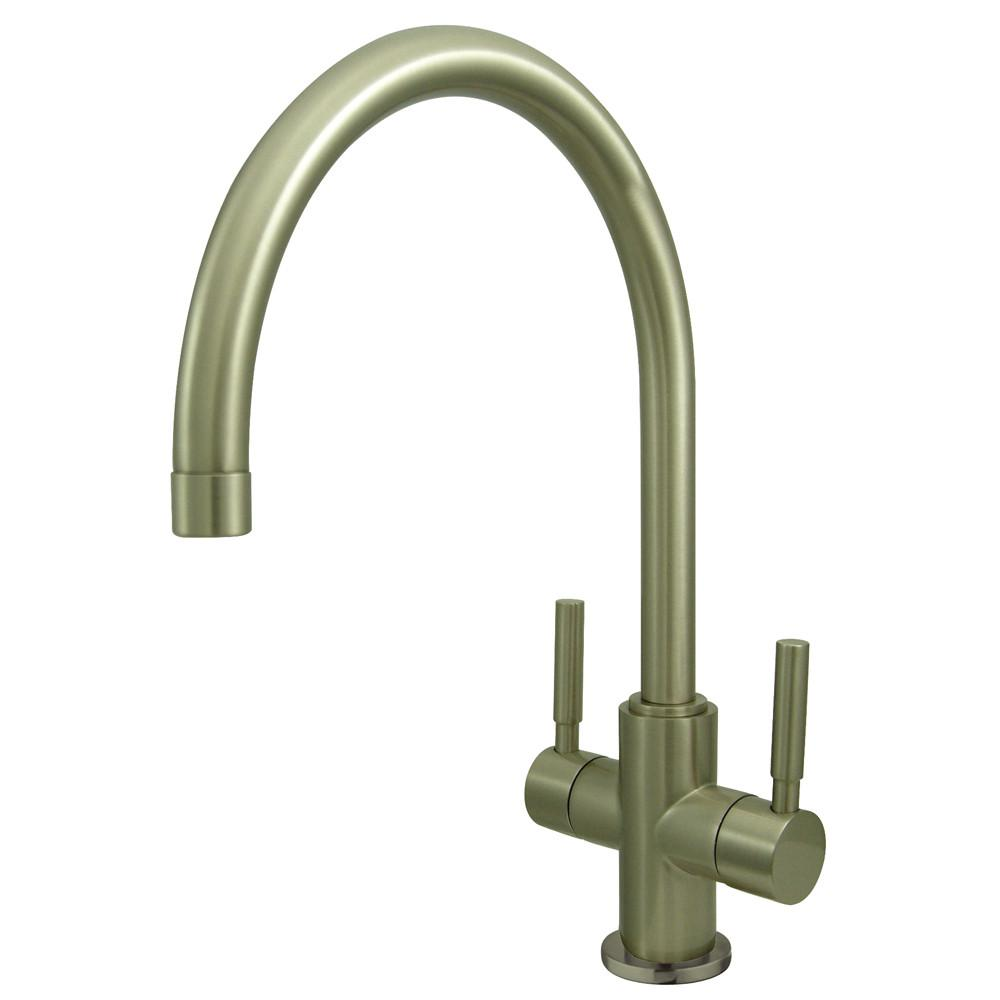 Kingston Brass Concord Satin Nickel Two Handle Vessel Sink Faucet KS8298DL