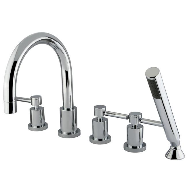 Kingston Brass Concord Chrome Roman tub filler faucet w/ Hand Shower KS83215DL