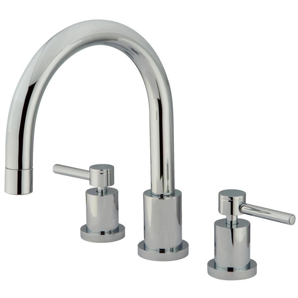Kingston Brass Concord Chrome Two Handle Roman tub filler faucet KS8321DL