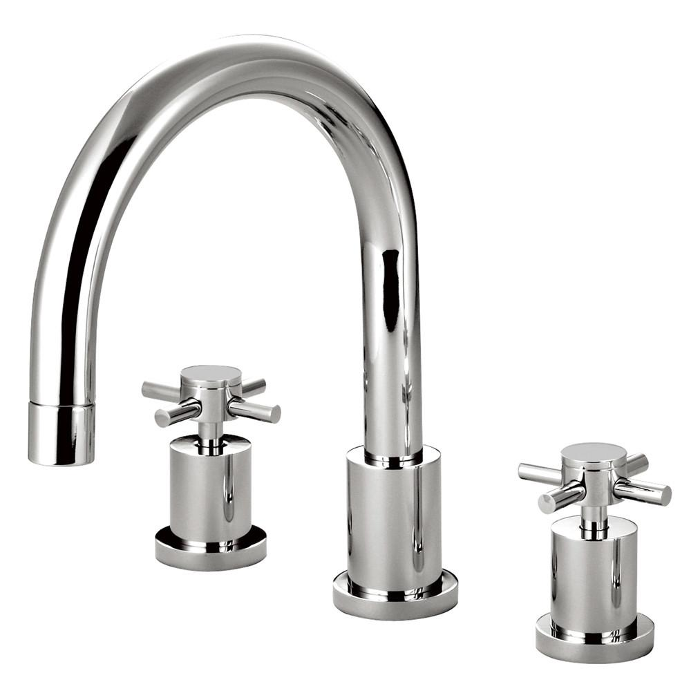 Kingston Brass Concord Chrome Two Handle Roman tub filler faucet KS8321DX