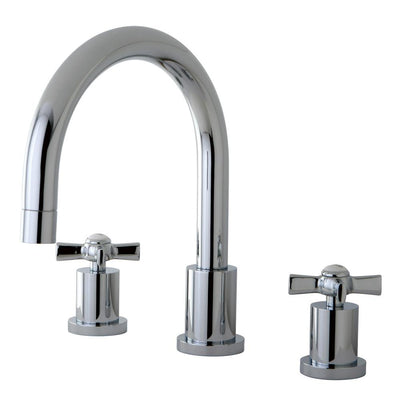 Kingston Brass KS8321ZX 2 Handle Roman Tub Filler Polished Chrome
