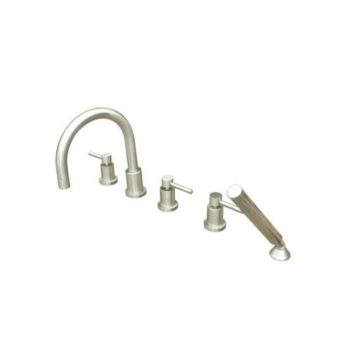 Kingston Concord Satin Nickel Roman tub filler faucet w/Hand Shower KS83285DL