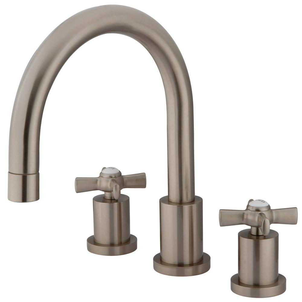 Kingston Brass KS8328ZX 2 Handle Roman Tub Filler Satin Nickel