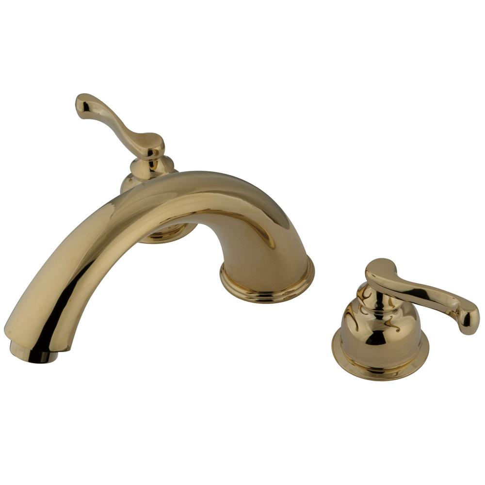 Kingston Brass Polished Brass Royale Two Handle Roman Tub Filler Faucet KS8362FL