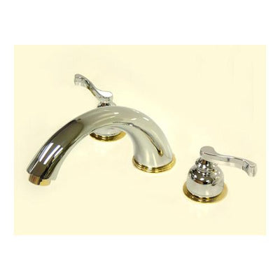 Chrome / Polished Brass Royale 2 Handle Roman Tub Filler Faucet KS8364FL