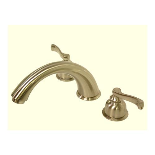 Kingston Brass Satin Nickel Royale Two Handle Roman Tub Filler Faucet KS8368FL