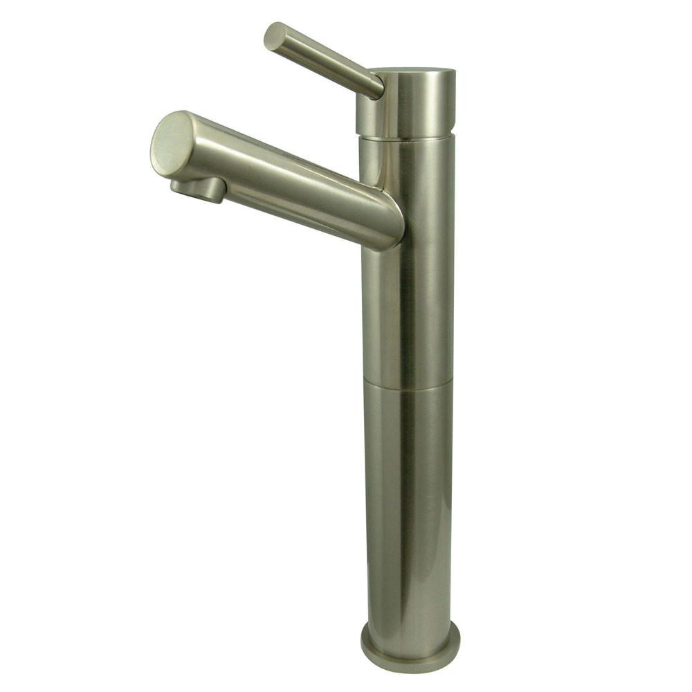 Kingston Brass Concord Satin Nickel Single Handle Vessel Sink Faucet KS8418DL