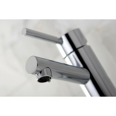 Kingston Concord Chrome Single Handle Bathroom Faucet w/ Cover Plate KS8421DL