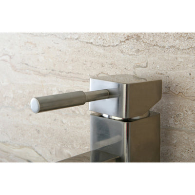 Kingston Concord Satin Nickel Single Handle Bathroom Faucet w/ Plate KS8448DL