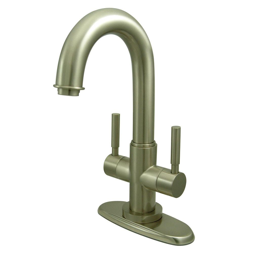 Kingston Concord Satin Nickel 2 Handle Bathroom Faucet w/ Push-up Drain KS8458DL