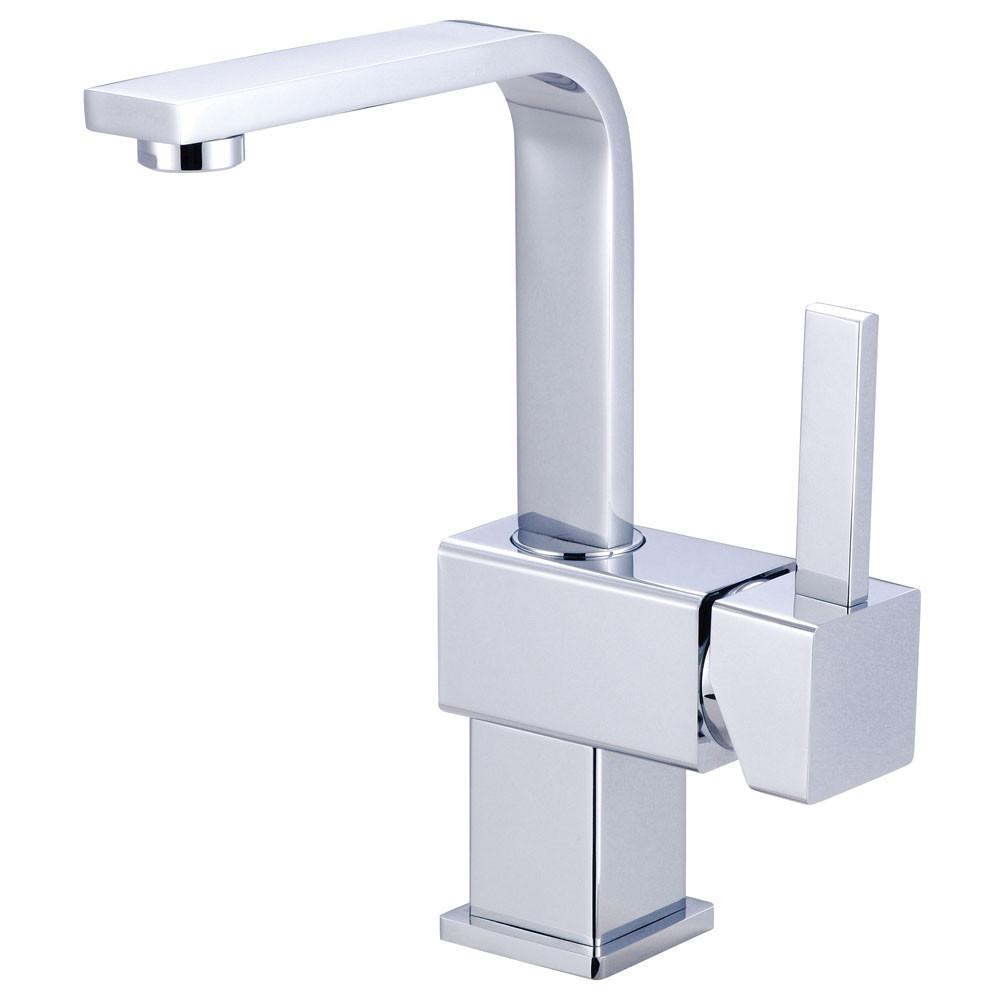 Claremont Chrome Single Handle Bathroom Faucet with Push Up Drain KS8461CL