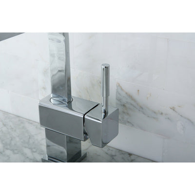 Kingston Concord Chrome Single Handle Bathroom Faucet w/ Push-up Drain KS8461DL
