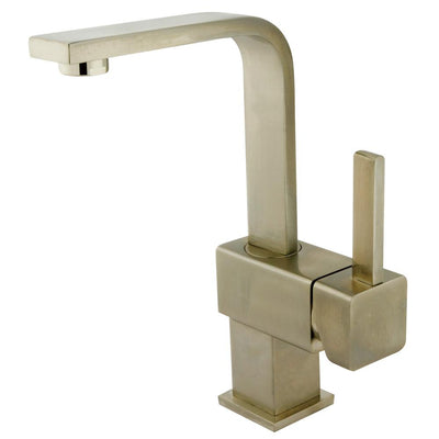 Claremont Satin Nickel Single Handle Bathroom Faucet with Push Up Drain KS8468CL
