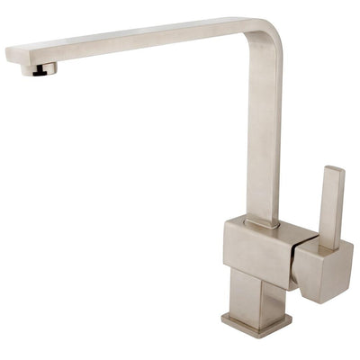 Kingston Brass Claremont Satin Nickel Single Handle Kitchen Faucet KS8478CL