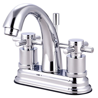Chrome Two Handle Centerset Bathroom Faucet w/ Brass Pop-Up KS8611DX