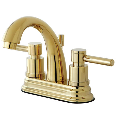 Polished Brass Two Handle Centerset Bathroom Faucet w/ Brass Pop-Up KS8612DL
