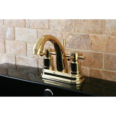 Polished Brass Two Handle Centerset Bathroom Faucet w/ Brass Pop-Up KS8612DX