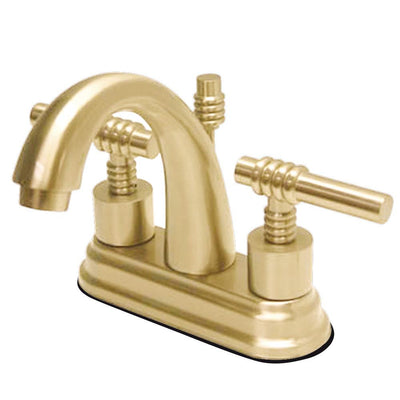 "Kingston Polished Brass 2 Handle 4"" Centerset Bathroom Faucet w Pop-up KS8612ML"