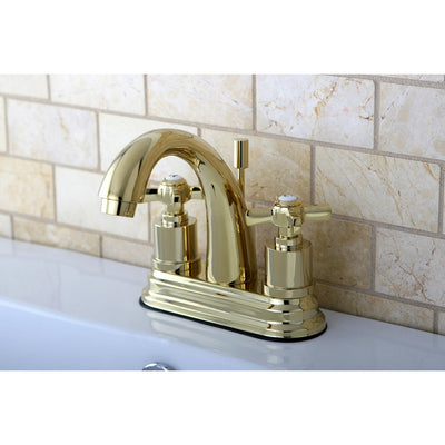 "Kingston Brass KS8612ZX 4"" Centerset Bathroom Faucet Polished Brass"