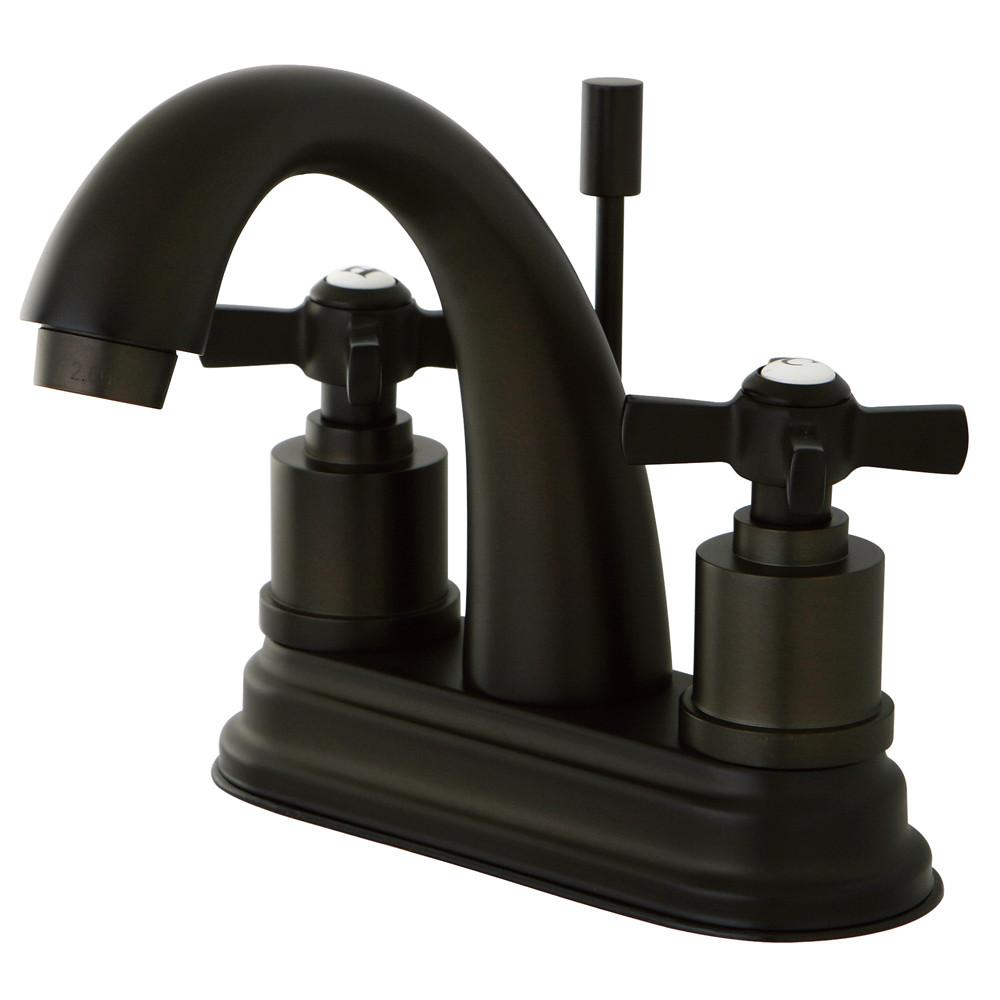 "Kingston Brass KS8615ZX 4"" Centerset Bathroom Faucet Oil Rubbed Bronze"