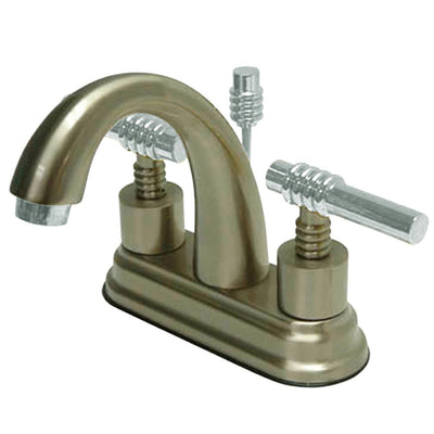 "Kingston Brass Chrome 2 Handle 4"" Centerset Bathroom Faucet w Pop-up KS8617ML"