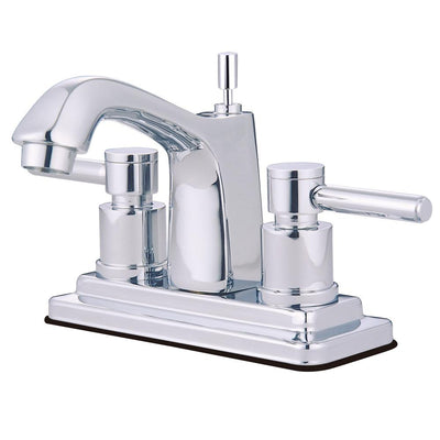 Chrome Two Handle Centerset Bathroom Faucet w/ Brass Pop-Up KS8641DL