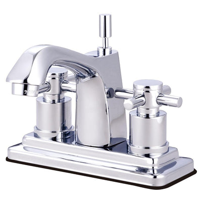 Chrome Two Handle Centerset Bathroom Faucet w/ Brass Pop-Up KS8641DX