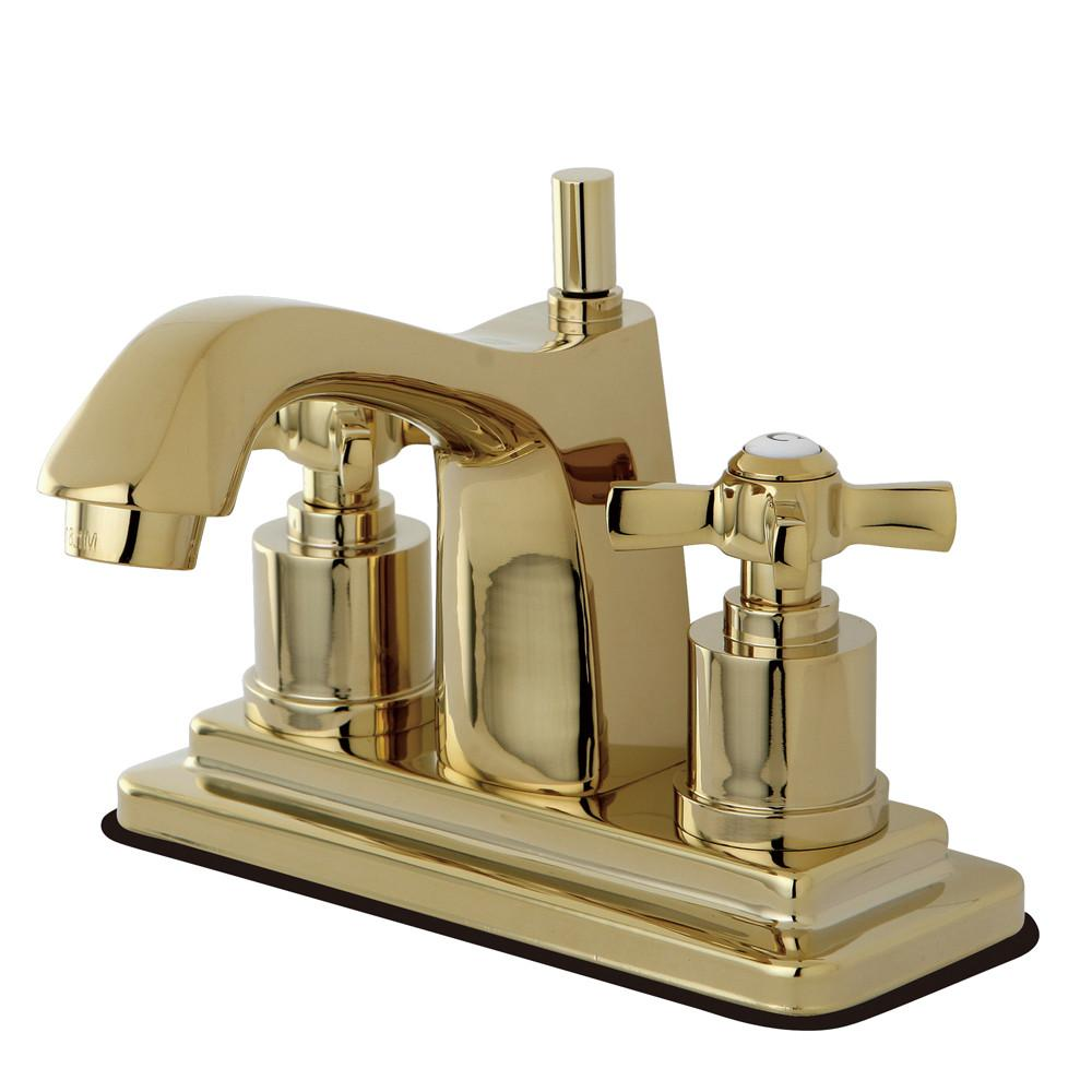 "Kingston Brass KS8642ZX 4"" Centerset Bathroom Faucet Polished Brass"