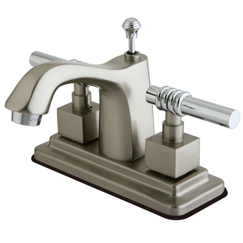 "Kingston Brass Chrome 2 Handle 4"" Centerset Bathroom Faucet w Pop-up KS8647QL"
