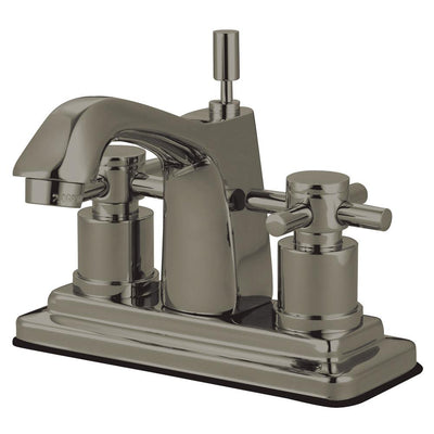 Satin Nickel Two Handle Centerset Bathroom Faucet w/ Brass Pop-Up KS8648DX