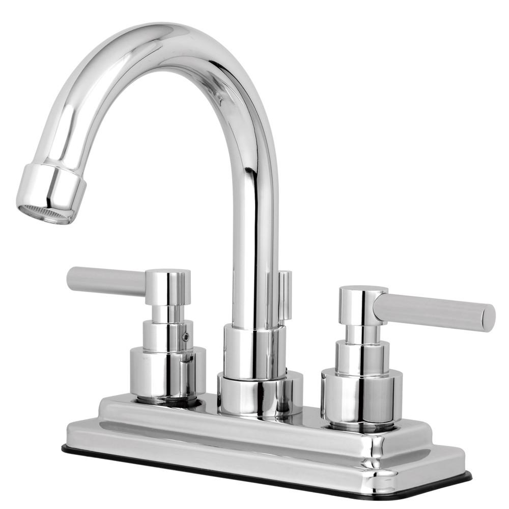 "Kingston Brass Chrome 2 Handle 4"" Centerset Bathroom Faucet w Pop-up KS8661EL"