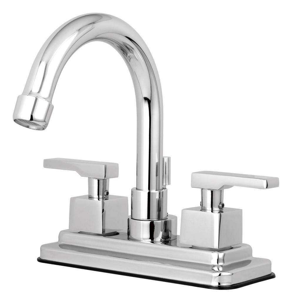 "Kingston Brass Chrome 2 Handle 4"" Centerset Bathroom Faucet w Pop-up KS8661QLL"