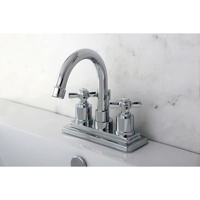 "Kingston Brass KS8661ZX 4"" Centerset Bathroom Faucet Polished Chrome"