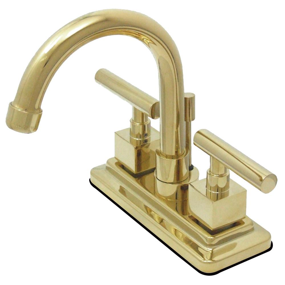 Kingston Claremont Polished Brass Two handle Centerset Bathroom Faucet KS8662CQL