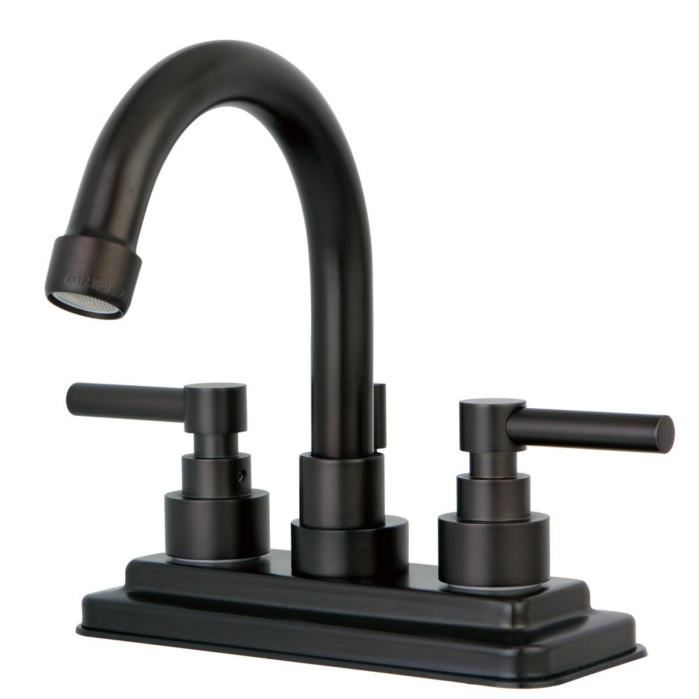"Kingston Oil Rubbed Bronze 2 Handle 4"" Centerset Bathroom Faucet KS8665EL"
